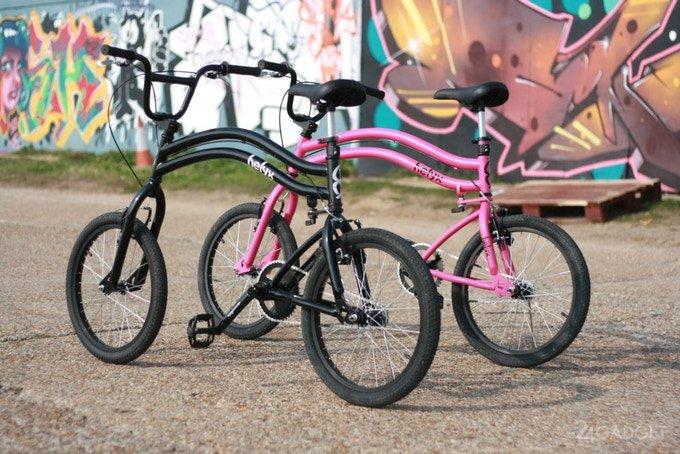 Маневренный велосипед Helyx с двумя рулевыми колесами (4 фото + видео)