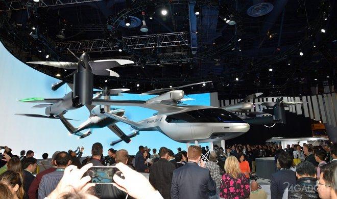 Представлен концепт летающего такси Hyundai для Uber (3 фото + видео)