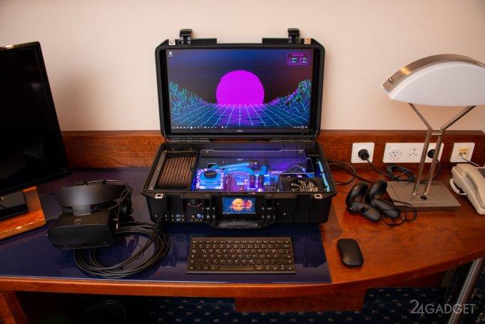 Оригинальный игровой компьютер с жидкостным охлаждением (12 фото)