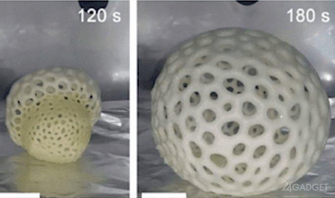 Пенорезина для 3D печати увеличивается в 40 раз (видео)