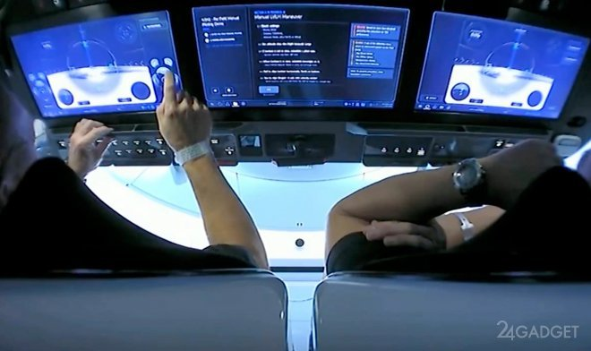 Система управления Crew Dragon схожа с игровой консолью (видео)