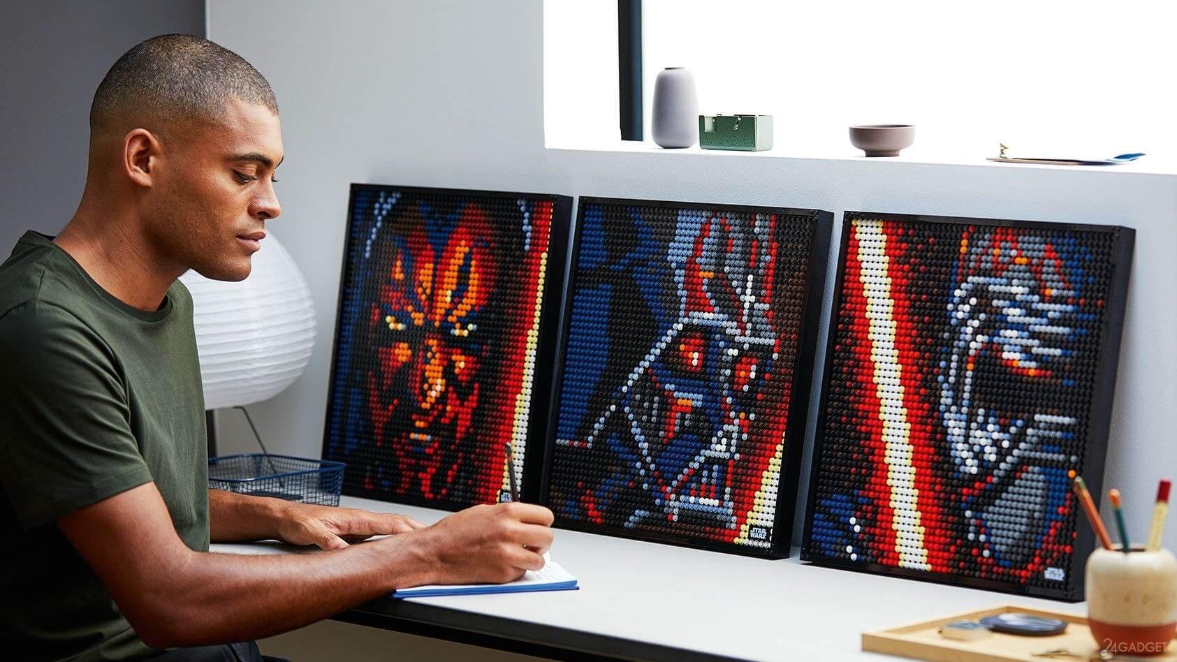 Новая линия конструкторов LEGO Art для создания портретов известных