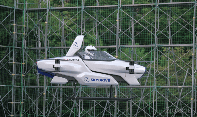 Совершен первый публичный демонстрационный полет пилотируемого автомобиля SkyDrive SD-03