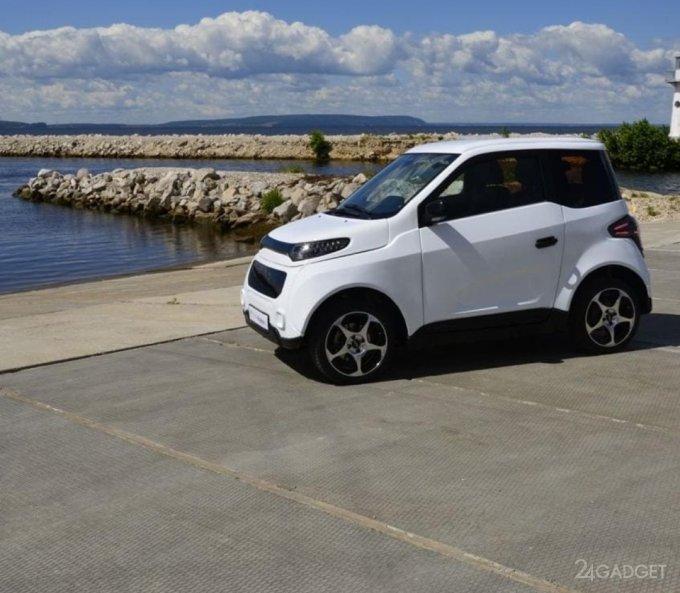 Опубликованы первые реальные фото российского электромобиля Zetta (4 фото)