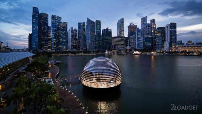 Представлен дизайн сферического плавучего магазина Apple