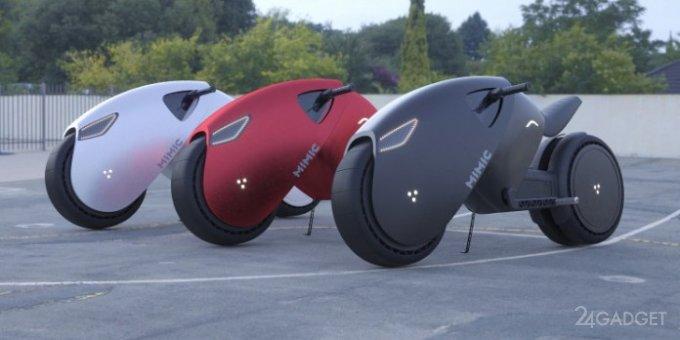 Представлен концепт электрического супербайка будущего Mimic Superbike