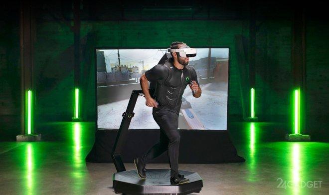 Беговая дорожка виртуальной реальности Omni One заменит домашние тренажеры (видео)