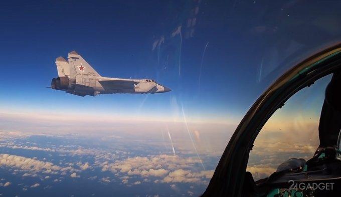 Представлено видео учебного боя МиГ-31 в стратосфере