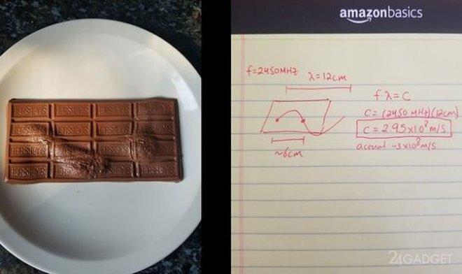 Шоколад и СВЧ печь помогут измерить скорость света в домашних условиях (3 фото)