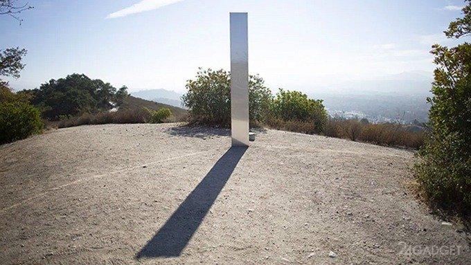 Третий таинственный металлический обелиск обнаружен  и уже исчез в Калифорнии (3 фото)