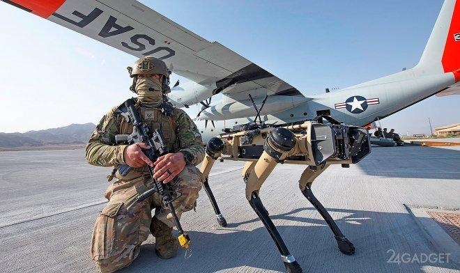 Собакообразный робот Spot идет в армию (2 фото + видео)
