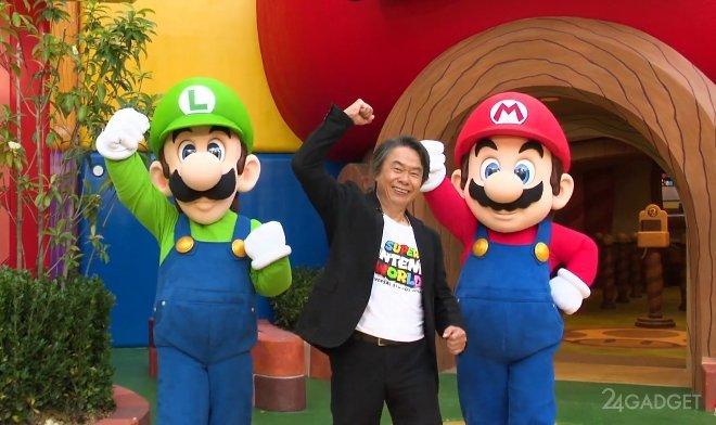 Тематический парк Super Nintendo World представлен разработчиком серии игр «Марио» (2 фото + видео)