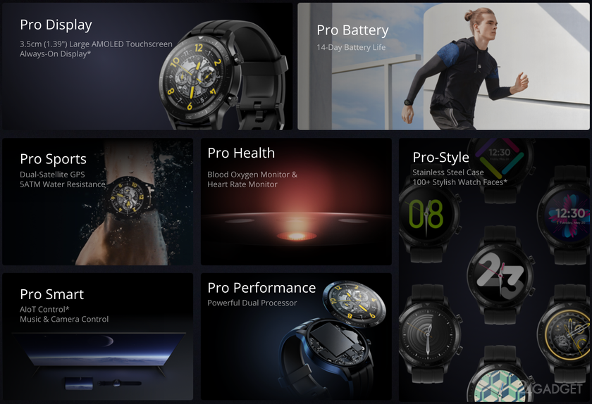 Представлены смарт часы Realme Watch S Pro