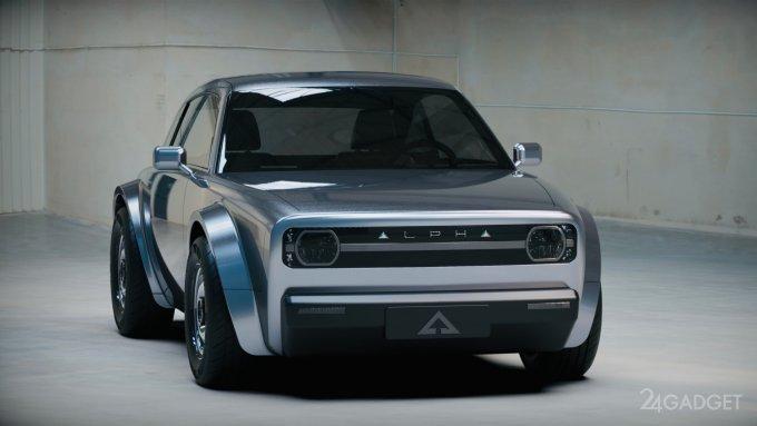 Alpha Motor анонсирует электрическое купе Alpha ACE в ретро стиле (4 фото  видео)