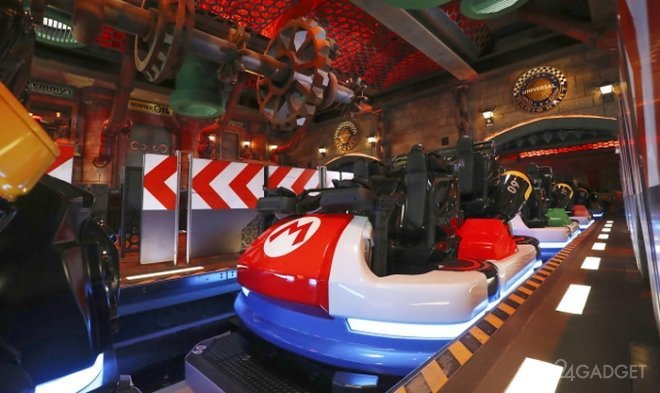Опубликован видеоролик аттракциона Mario Kart, из японского парка Super Nintendo World (3 видео)