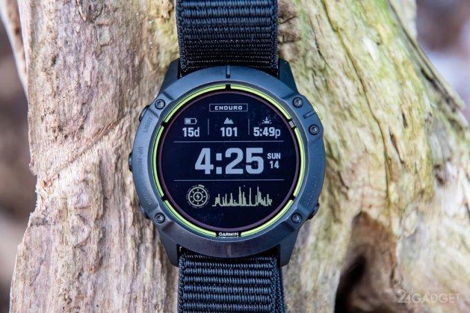 Смарт-часы Garmin Enduro с солнечной батареей и автономностью до 65 суток (5 фото  видео)