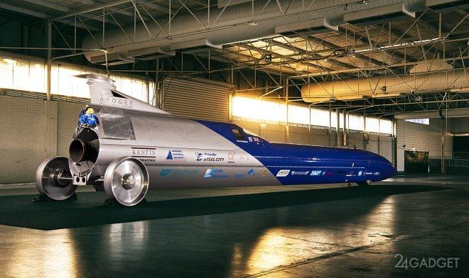 Австралийский гонщик планирует установить новый мировой рекорд скорости 1600 км/ч (3 фото)