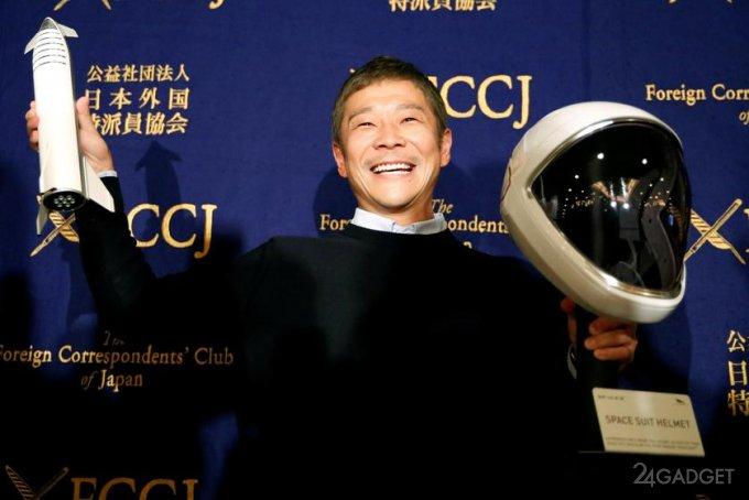 Миллиардер из Японии оплатит полет вокруг Луны на корабле Starship для 8 землян