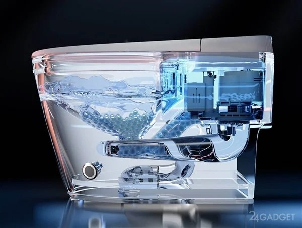 На краудфандинг выведен умный унитаз Xiaomi с подогревом, сушилкой, подсветкой и дезодорацией (3 фото)