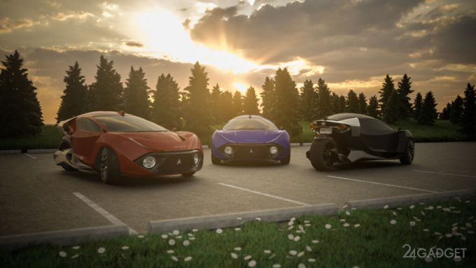 Представлен самый быстрый в мире 3-х колесный 2-х местный электромобиль Daymak Spirtus (2 фото  видео)