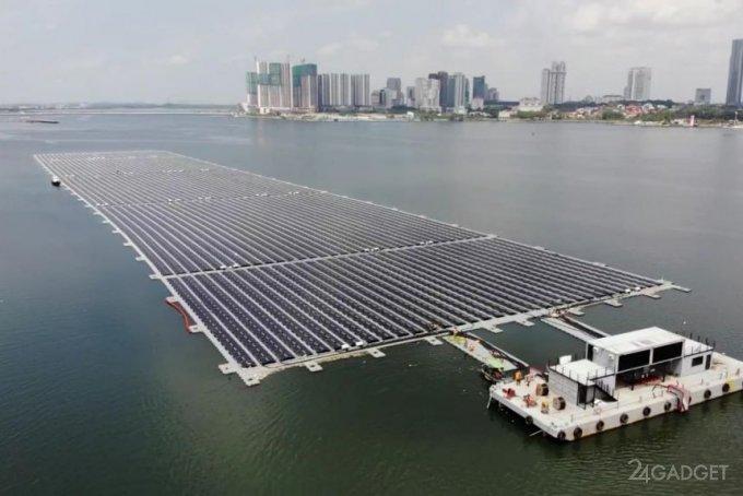 Завершено строительство солнечной электростанции морского базирования Sunseap в Сингапуре