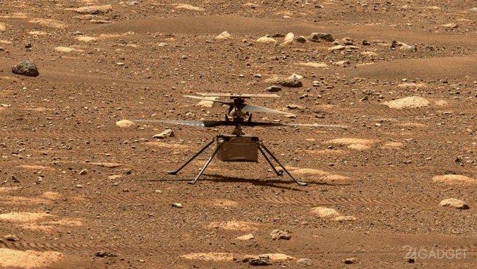 Третий полет марсианского вертолета Ingenuity Mars на 100 метров продолжался 80 секунд