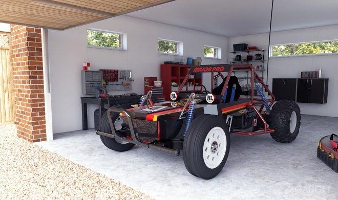 Игрушечную машинку Tamiya превратили в полноразмерный электромобиль (3 фото)