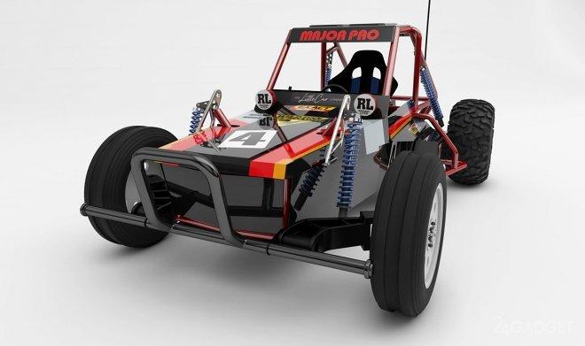 Игрушечную машинку Tamiya превратили в полноразмерный электромобиль