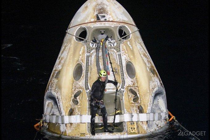 Завершилась первая полугодовая миссия Crew-1 SpaceX на МКС. Корабль успешно вернулся на Землю