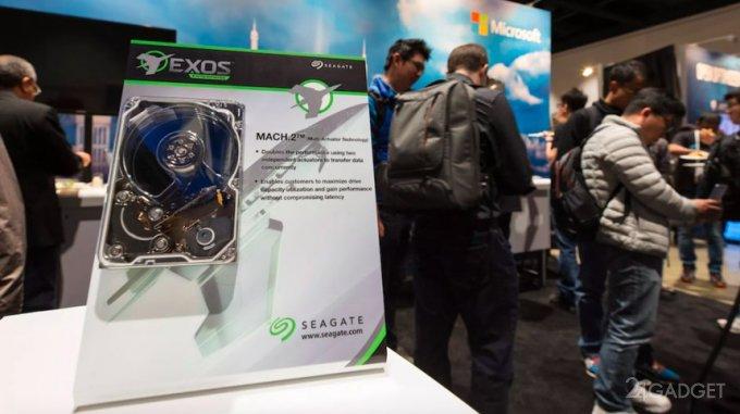 Новые жесткие диски Seagate составят конкуренцию SSD (видео)