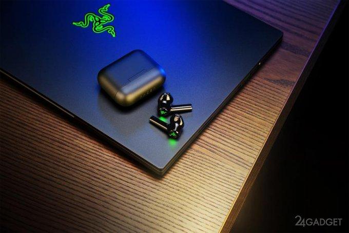 Беспроводные наушники Razer Hammerhead True Wireless X для геймеров, оснащенные подсветкой, с 28 часами автономной работы по цене 80 долларов (4 фото