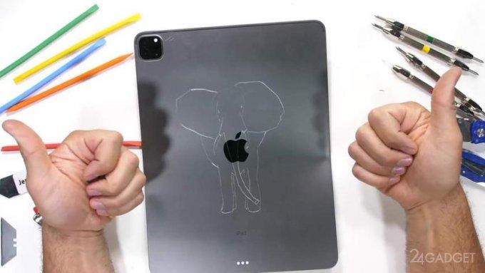 Новый iPad Pro на М1 прошел испытание на прочность от Зака Нильсона (видео)