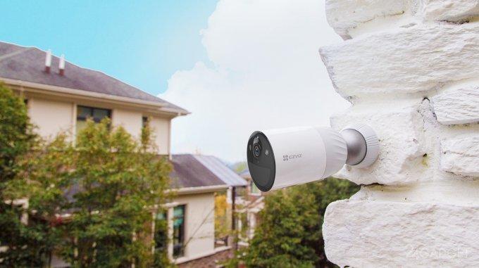 EZVIZ выпустили аккумуляторную камеру BC1 с базовой станцией в комплекте для улучшенной защиты дома