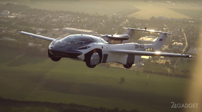 Летающий автомобиль AirCar отправился в первый рейс между двумя городами