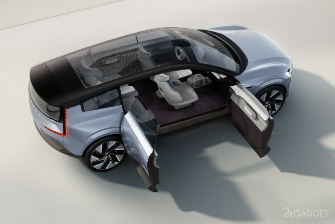 Volvo представила концептуальный электромобиль будущего (5 фото  видео)