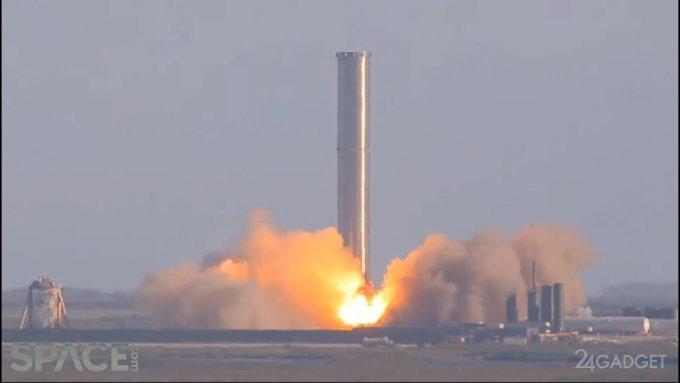 Испытания межпланетного ракетоносителя Super Heavy SpaceX прошли успешно