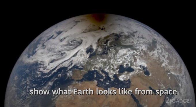 NASA представило изображение кольцевого солнечного затмения, снятое из космоса
