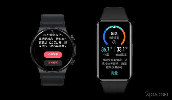 Представлены фитнес трекер Huawei Band 6 Pro и смарт часы Huawei Watch GT 2 Pro ECG