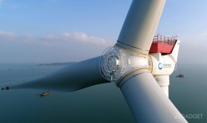 Китай создаст самый большой в мире ветрогенератор мощностью 16 МВт