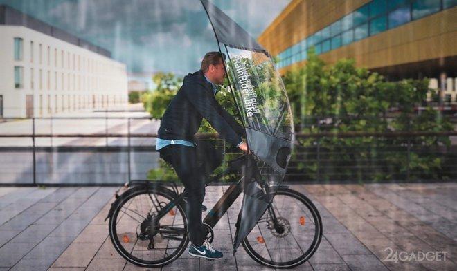Softtop от RainRider защитит велосипедиста и велосипед от непогоды и холода (видео)