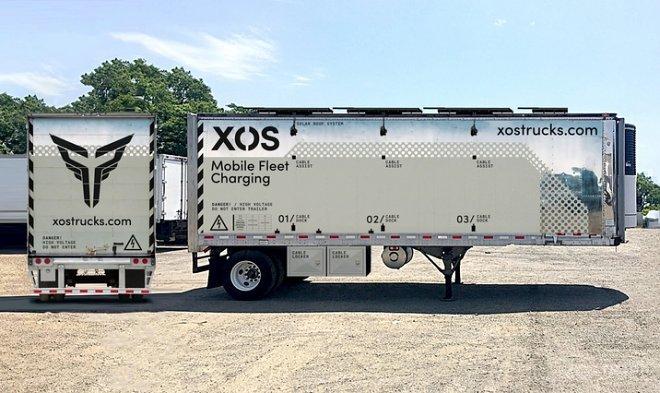 Представлена мобильная зарядная станция Xos Hub для грузовых электромобилей (2 фото)