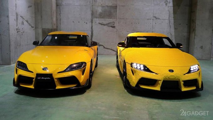 LEGO создала действующую модель спортивного автомобиля Toyota Supra GR в натуральную величину (5 фото)