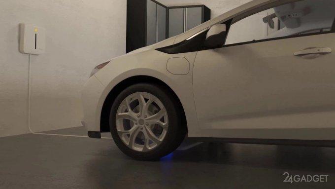 Hyundai выпустит электромобиль, поддерживающий беспроводную зарядку (видео)
