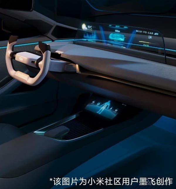 Показаны неофициальные рендеры будущего электромобиля Xiaomi M1 (5 фото)