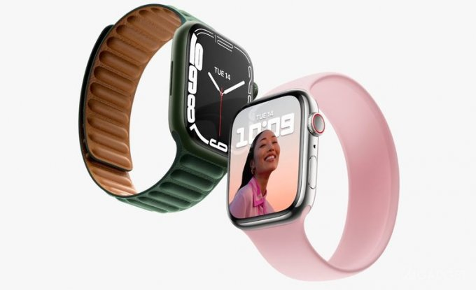 Безрамочные умные часы Apple Watch Series 7 (2 фото)