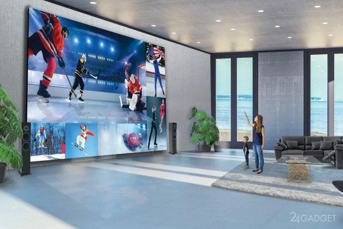 LG представила флагманский DVLED телевизор с диагональю 325 дюймов, массой 1 тонна и стоимостью 1,7 млн долларов (3 фото)