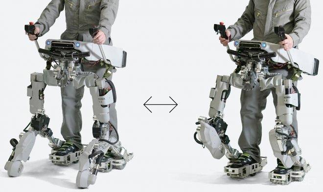 Экзоскелет Koma от Panasonic ходит на двух «ногах» и трансформируется в скутер (видео)