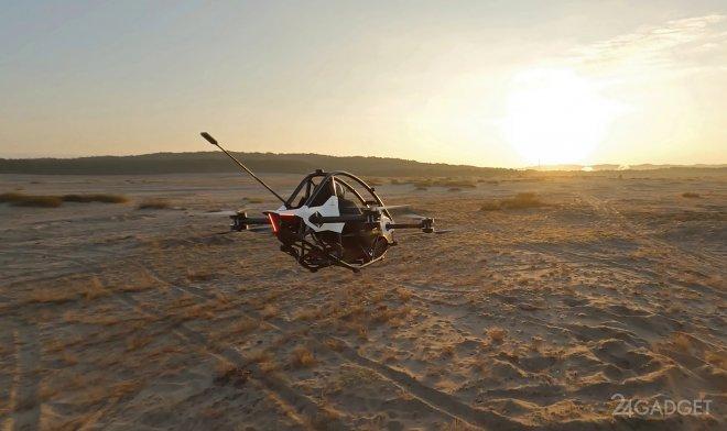 Эффектные испытания персонального летающего транспорта Jetson One