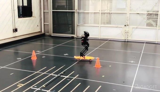 Двуногий робот LEONARDO ходит по канату, катается на скейтборде и перелетает через препятствия (видео)