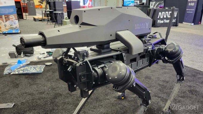 Собакообразный робот Vision-60 «вооружился» крупнокалиберной винтовкой с оптикой и тепловизором